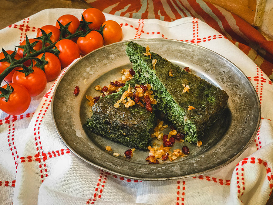 Persian vegetarian dishes, kookoo sabzi