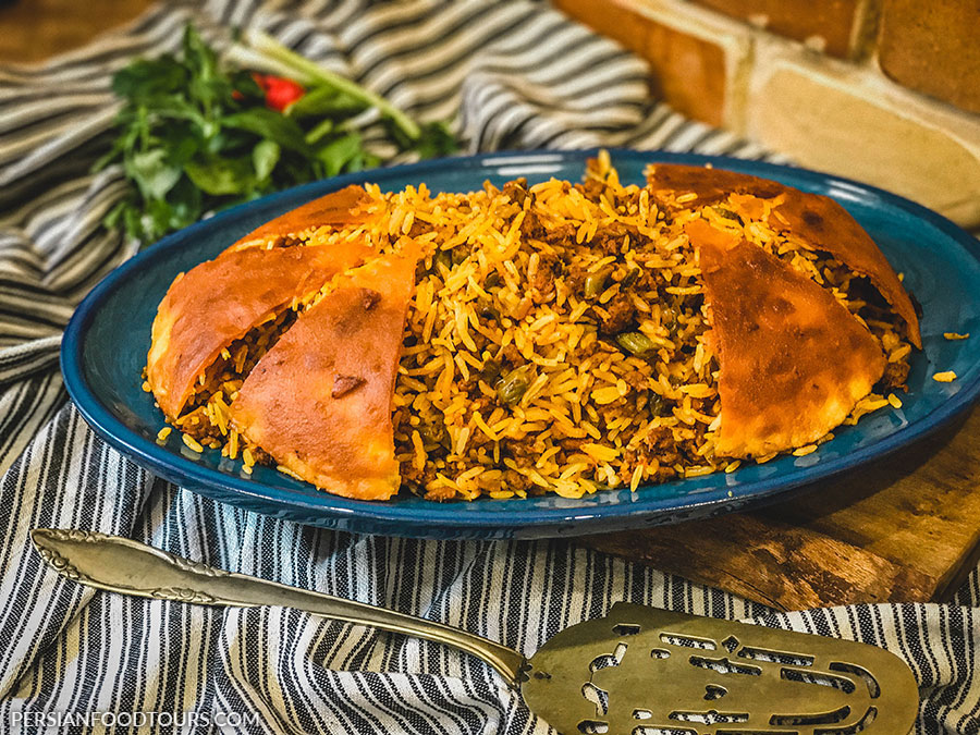 Loobia polo - Persian Green beans with rice