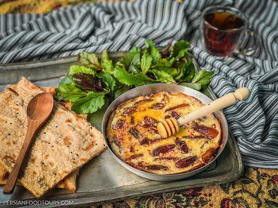 Persian date and cinnamon omelette - Persian omelette