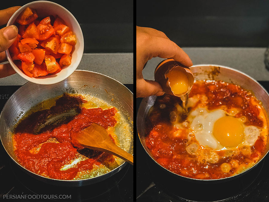 How to cook Persian tomato omelette - Persian omelette