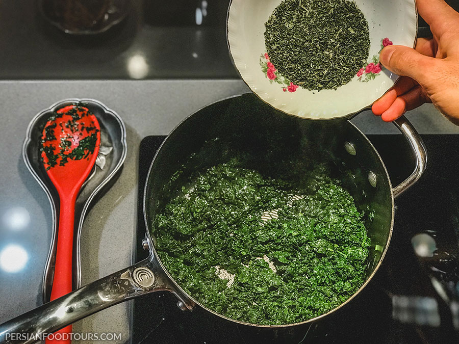 Ghormeh Sabzi with dried Herbs